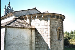 The church of San Miguel at Bacurín with interesting carved  Canecillos (Consol Brackets).