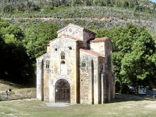 San Miguel de Lillo, former royal chapel of the palace of King Ramiro 1 on Monte Naranco.