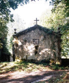 The church in Soutomerille, an abandoned village near Castroverde.